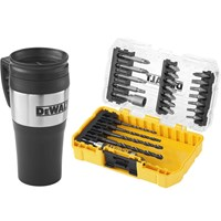 DeWalt 25 Piece Hex Shank Drill & Screwdriver Bit Set / Mug