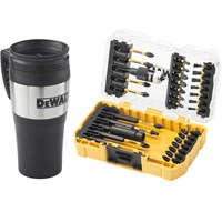DeWalt 32 Piece FlexTorq Impact Screwdriver Bit Set & Mug