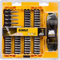DeWalt 53 Piece Screwdriver Bit and Safety Glasses Set
