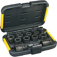 "DeWalt 17 Piece 1/2"" Drive Impact Socket Set Metric"