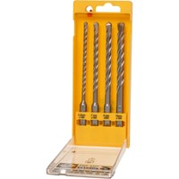 DeWalt 4 Piece Extreme SDS Plus Drill Bit Set