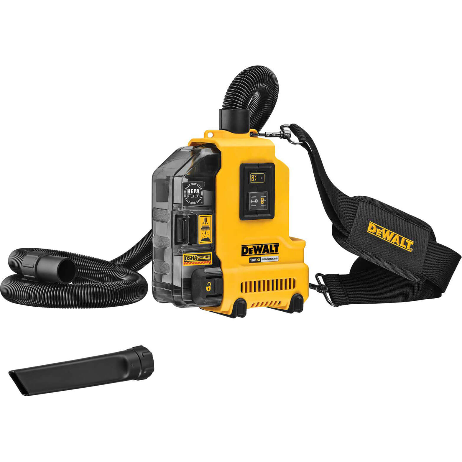 DeWalt DWH161N 18v XR Universal Cordless Dust Extractor No Batteries No Charger No Case