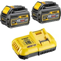 DeWalt 54v XR Cordless FLEXVOLT Twin Li-ion Battery and Fast Charger Pack 6ah