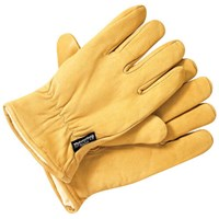 Dickies Mens Lined Leather Work Gloves