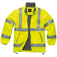 Dickies Mens High Vis Safety Lined Fleece Jacket