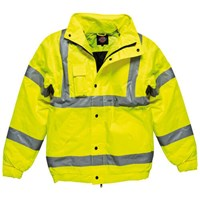 Dickies Mens Hi Vis Bomber Jacket