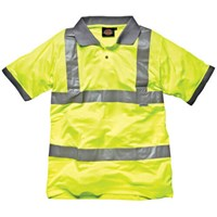 Dickies Mens Hi Vis Safety Polo T Shirt