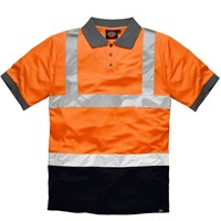 Dickies Mens Two Tone Hi Vis Polo Shirt