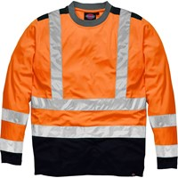 Dickies Two Tone High Vis Long Sleeved T Shirt
