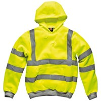 Dickies Mens High Vis Safety Hooded Sweatshirt