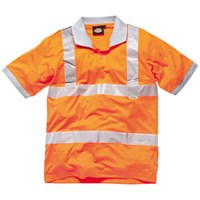 Dickies Mens Hi Vis GO/RT Polo Shirt