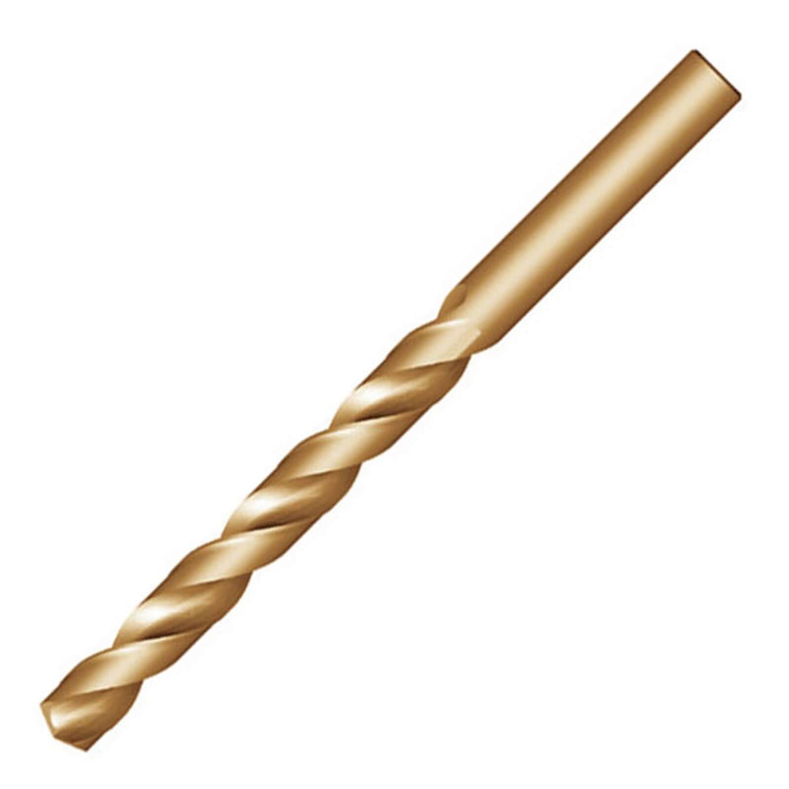 Dormer A7776.5 NAS907J Jobber Drill Cobalt High Speed Steel Bronze Coating 6.5 mm Head Diameter Pack of 10 63 mm Flute Length