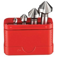 Dormer G2362 4 Piece HSS Straight Shank 90° Countersink Set