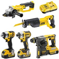 DeWalt 18v XR Cordless 5 Piece Power Tool Kit