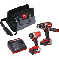 Einhell Power X Change 18v Cordless Combi Drill & Impact Driver Kit