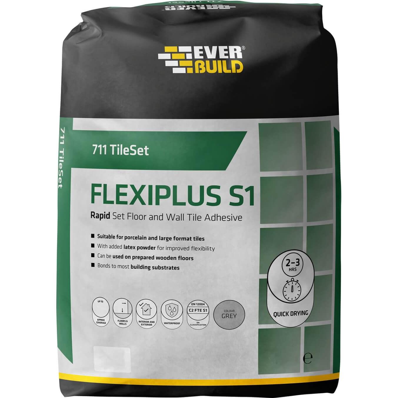 Everbuild Rapid Set Flexiplus Tile Adhesive