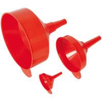 Sealey 3 Piece Fixed Spout Funnel Set