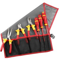 Facom 184.J5VE 6 Piece Electricians Insulated Tool Kit