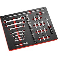 "Facom 35 Piece 3/8"" Drive Locking Socket & Spanner Set Imperial in Module Tray"