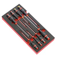 Facom Protwist 8 Piece Slotted and Phillips Screwdriver Set in Module Tray