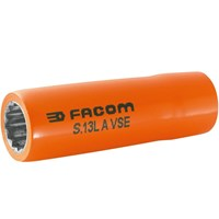 "Facom 1/2"" Drive 1000v Insulated Bi Hexagon deep Metric Socket"