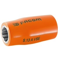 "Facom 1/2"" Drive 1000v Insulated Bi Hexagon Metric Socket"