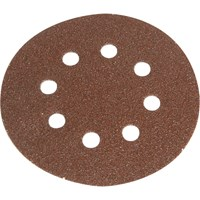 Faithfull 125mm Hook and Loop Perforated Sanding Discs