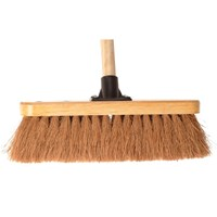 "Faithfull Coco Varnished Broom 12"" and Handle"
