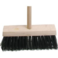 "Faithfull Blue PVC Flat Broom 13"" + Handle"