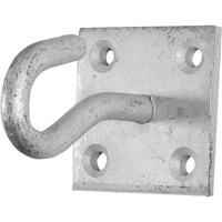 Faithfull Wall Hook On Plate Galvanised