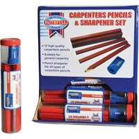 Faithfull Carpenters Pencils & Sharpener
