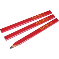 Faithfull Medium Carpenters Pencils Red