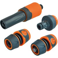 Faithfull 4 Piece Hose Connector & Nozzle Set