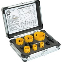 Faithfull 9 Piece Plumbers HSS Bi Metal Hole Saw Set