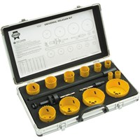 Faithfull 16 Piece Universal Hole Saw Kit