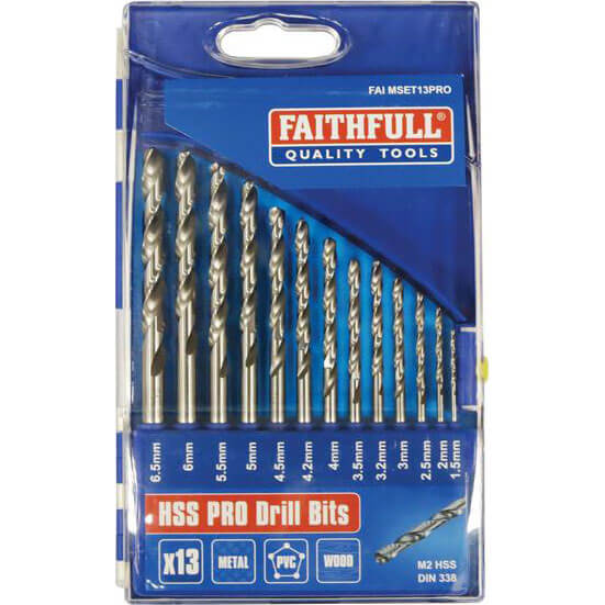 3,3mm FAITHFULL HSS DRILL BIT Packs of 10 Bits