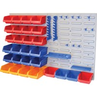 Faithfull 43 Piece Wall Storage Bin & Panel Set