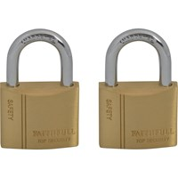 Faithfull 2 Piece Keyed Alike Brass Padlock Set