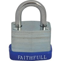 Faithfull Laminated Steel Padlock