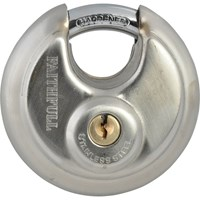 Faithfull Stainless Steel Discus Padlock