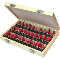 "Faithfull 30 Piece 1/4"" Router Bit Set"