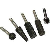 Faithfull 5 Piece Rotary Rasp & Countersink Set