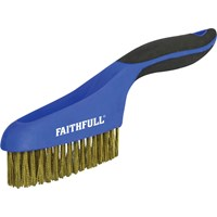 Faithfull Brass Wire Scratch Brush