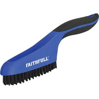 Faithfull Plastic Bristle Scratch Brush