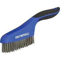 Faithfull Stainless Steel Wire Scratch Brush