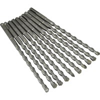 Faithfull SDS Plus Masonry Drill Bit Bulk Pack of 10