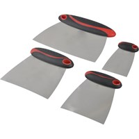 Faithfull 4 Piece Stainless Steel Filler and Spreader Set