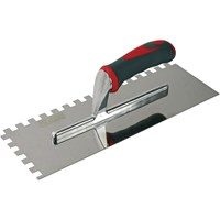 Faithfull Soft Grip Stainless Steel Notched Trowel