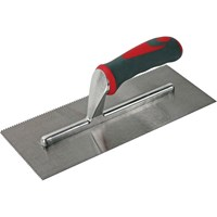 Faithfull V Notched Adhesive Trowel Soft Grip Handle
