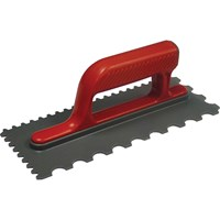 Faithfull V & U Notched Plastic Tiling Trowel Soft Grip Handle